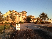 Driveway of private winery in Delta. Provided valet parking